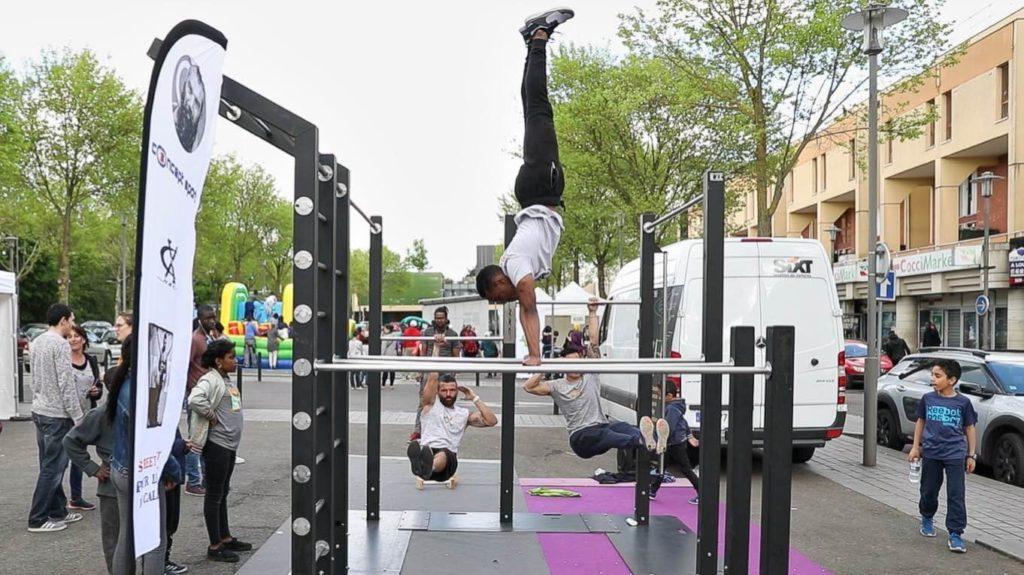Démonstration de Street Workout de notre partenaire NXC à Courcouronnes