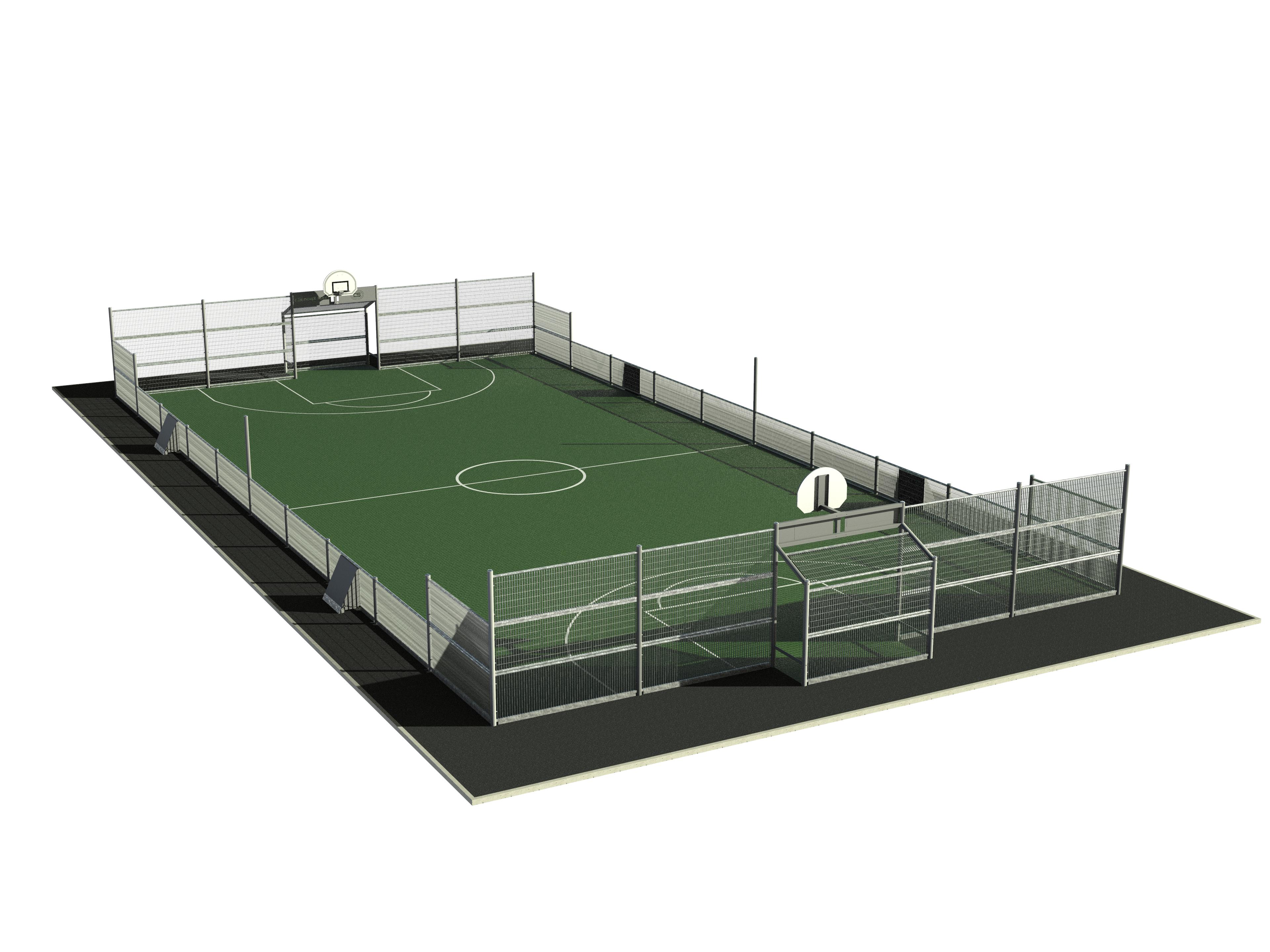 Terrain multisports spéciale 30.4 m x 15.8 m